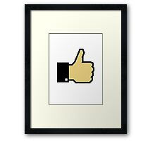 I like this! (Thumb Up) Framed Print