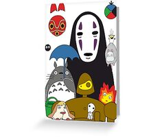 Ghibli mix Greeting Card