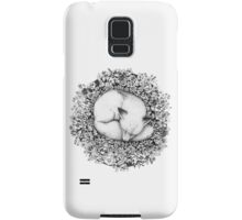 Fox Sleeping in Flowers Samsung Galaxy Case/Skin
