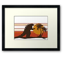 King of the Monsters - Radioactive Lizard Framed Print