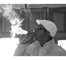 Cuban cigar test Photographic Print