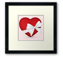 Valentine Red Heart Framed Print