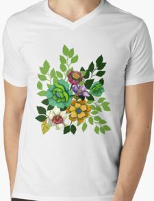 Flower Hand drawn Print T-Shirt