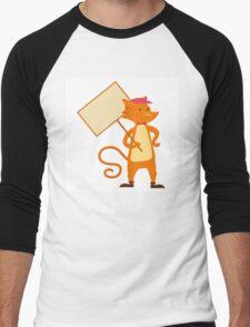 Cute cartoon tomcat Men's Baseball ¾ T-Shirt