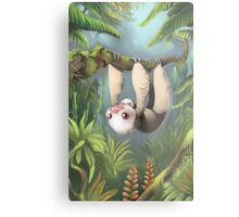 Sloth with Baby Metal Print