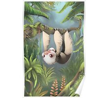 Sloth with Baby Poster