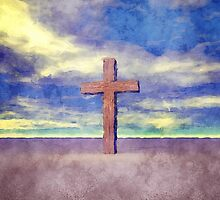 Christian Cross Landscape by morningdance