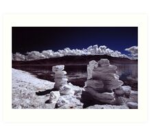 Salt deposits Art Print