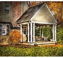 A side porch Photographic Print