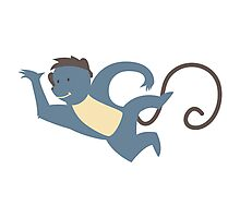 Funny cartoon monkey Photographic Print