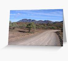 Flinders Ranges track Greeting Card