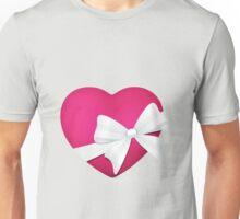 Valentine Pink Heart Unisex T-Shirt