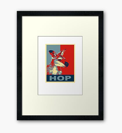 HOP - Yes We Kan-garoo Framed Print