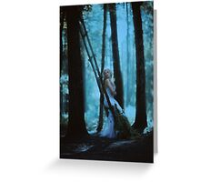 forest lights Greeting Card