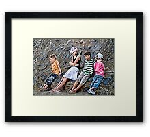 Bored Children... Framed Print