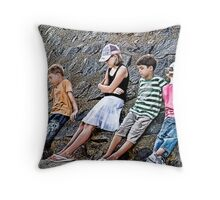 Bored Children... Throw Pillow