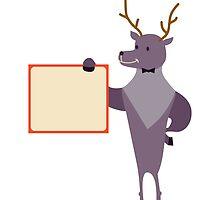 Cute cartoon reindeer by berlinrob