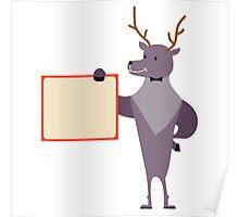 Cute cartoon reindeer Poster