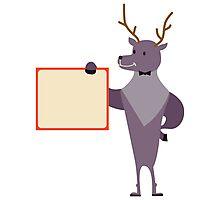 Cute cartoon reindeer Photographic Print