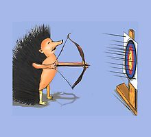 Hedgehog archery by Nornberg77