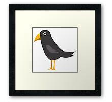 Adorable cartoon raven Framed Print