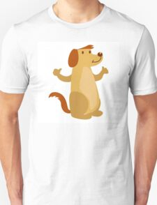 Little funny cartoon dog Unisex T-Shirt