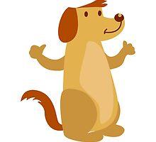 Little funny cartoon dog by berlinrob