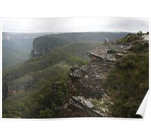 Across the Cliff Face Poster