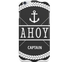 AHOY Captain Badge with anchor iPhone Case/Skin