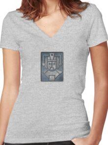 Cyberman Logo Women's Fitted V-Neck T-Shirt