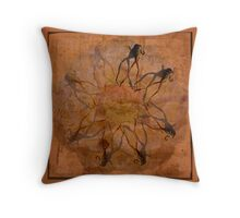 Dancing on the Flower of Death Throw Pillow