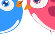 Two cartoon birds in love Sticker