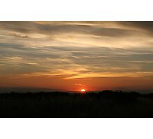 Sunset. Photographic Print