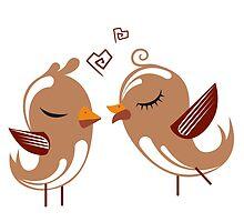 Two cartoon birds in love by berlinrob