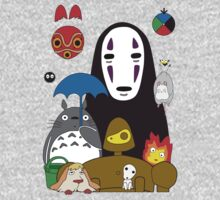 Ghibli mix One Piece - Short Sleeve