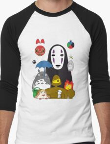Ghibli mix Men's Baseball ¾ T-Shirt
