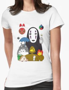 Ghibli mix Womens Fitted T-Shirt