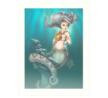 Sea Serpent Queen Art Print