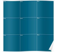 Blue Wall Texture 3x3 Poster