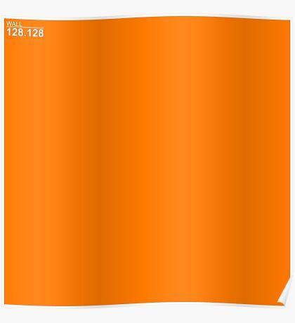 Orange Wall Texture 1x1 Poster