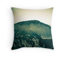 Misty Mountain Top Throw Pillow