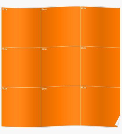 Orange Wall Texture 3x3 Poster