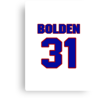 National football player Omar Bolden jersey 31 Canvas Print