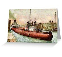 """Whaleback"" Poe Lock, Sault Ste. Marie, Michigan - all products Greeting Card"