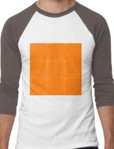 Orange Wall Texture 3x3 Men's Baseball ¾ T-Shirt