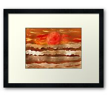 Dark Ocean Sunset Framed Print