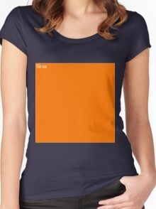 Orange Wall Texture 1x1 Women's Fitted Scoop T-Shirt