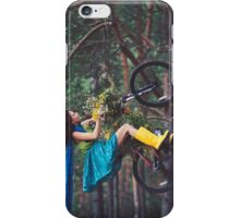 on a bike iPhone Case/Skin