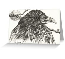 ACEO Raven Greeting Card