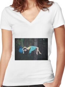 flight Women's Fitted V-Neck T-Shirt